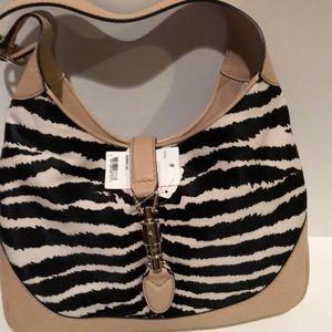 Gucci Jackie zebra Handbag